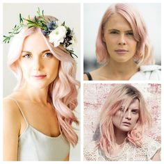This lovely pink-beige hue offers a crisp, sophisticated take on pastel that is as cool and refreshing as a glass of Prosecco. The soft color pairs well with classic shapes and subtle pink makeup. ... Formua 2: Goldwell Colorance 2 part 10BBs + 1 part 10BS + a drop of RR Mix with 2% Lotion