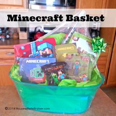 Awesome #Minecraft Basket for school fundraiser auction!