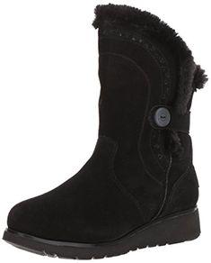 Skechers Women's Mid Apex Winter Boot, Black, 7.5 M US #ad