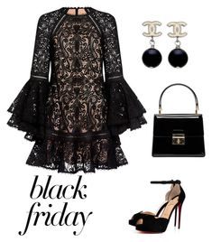 """""""Untitled #442"""" by taniaheung ❤ liked on Polyvore featuring Alexis, Christian Louboutin, Dolce&Gabbana and Chanel"""