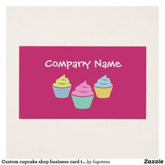 Cute poo unicorn business cards colorful business card templates custom cupcake shop business card template cute colorful cup cake logo for bakery store reheart Choice Image