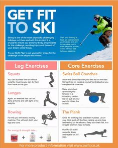Skiing is one of the most physically challenging holidays out there. With this in mind it is crucial to ensure that you and your body are prepared for the challenge. Avoiding injury & the end of your dream holiday. Start your training at least weeks befor Skiing Workout, Preparation Physique, Health And Wellness, Health Fitness, Ski Season, Ski Holidays, Snow Skiing, I Work Out, Get In Shape