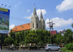 Malang Charming city in East Java cathedral.