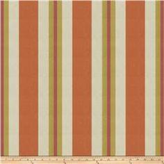 Fabricut Nya Stripe Jacquard Tangerine