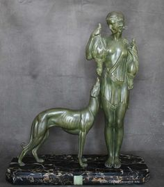 A large and rare Art Deco spelter figure, by D H Chiparus, France, c1925