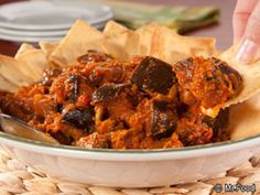 This year-round Italian-Style Caponata is especially perfect for big get-togethers. It even makes a nice change-of-pace Thanksgiving Day appetizer. Chock-full of goodness, this is really festive served over toasted bread triangles or on crackers. Healthy Eggplant, Eggplant Recipes, Easy Appetizer Recipes, Appetizers, Cooking Recipes, Healthy Recipes, Cooking Time, Italian Recipes, Italian Meals