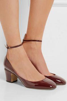 Valentino - Tango Patent-leather Pumps - Burgundy
