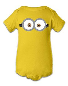 Tee Tee Monster Baby BoysMinion Inspired Onesie 6 Month Yellow -- Details can be found by clicking on the image.Note:It is affiliate link to Amazon.