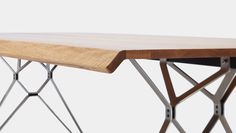IMO Fiord Table with Oak Top & Polished Stainless Steel Legs Cafeteria Table, Lunch Table, Kiosk Design, Acoustic Panels, Commercial Interiors, Solid Oak, Office Furniture, Outdoor Tables, Tiles