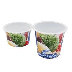 In Mold Label Plastic Yogurt Container Packaging,Cheap Frozen Yoghurt Pot Manufacturers
