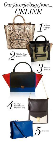 CÉLINE // Our Favorite Bags