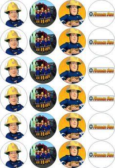 24 x 4.5cm FIREMAN SAM #1 EDIBLE RICE/WAFER PAPER CUPCAKE TOPPERS | eBay: