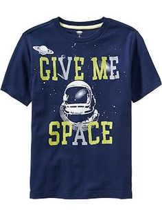 Boys Space Graphic Tees
