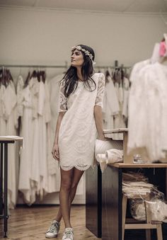 laure-de-sagazan-short-casual-bridal-gown-wedding-dress-french-chic