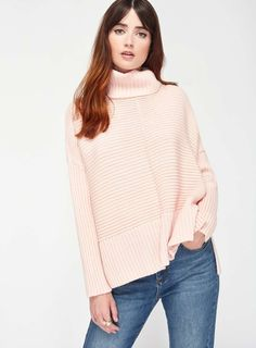 Pink Chunky Knitted Jumper - Tops - Clothing - Miss Selfridge Europe