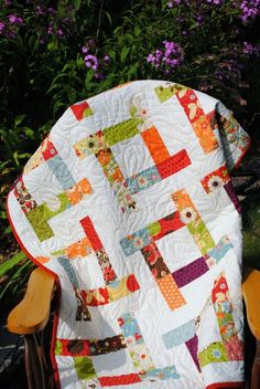 Jelly roll quilt by tabatha ... I could use Kaffe or Asians with this desing