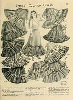 1898 Vintage Fashion - H.O'Neills Spring & Summer Catalogue Page 31 - Victorian Ladies Skirts | Flickr - Photo Sharing!