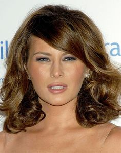awesome Melania Trump Long, Medium, Wavy Hairstyles Pictures
