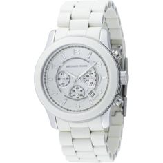 Michael Kors Watches Oversized White PU Runway