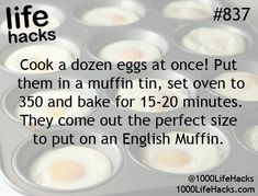 1000 life hacks is here to help you with the simple problems in life. Posting Life hacks daily to help you get through life slightly easier than the rest! Breakfast Dishes, Breakfast Time, Breakfast Recipes, Breakfast Sandwiches, Egg Sandwiches, Brunch Recipes, Breakfast Ideas, Dinner Recipes, Egg Recipes