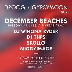 """23 Likes, 1 Comments - DROOGFEST (@droog.fest) on Instagram: """"Post-III Points vibes. We are back at @gypsymoonvapinbrews THIS FRIDAY with December Beaches."""""""