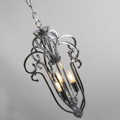 Lámpara colgante MARIE 3 níquel #deco #diseño #interiorismo
