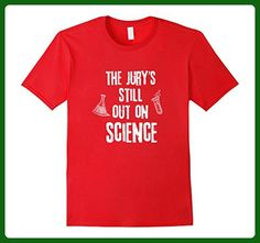 Mens The Jury's Still Out on Science T-Shirt 2XL Red - Math science and geek shirts (*Amazon Partner-Link)