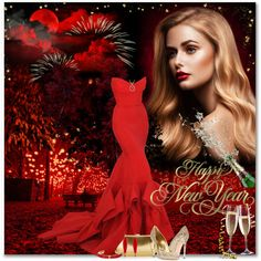 Happy New Year by petri5 on Polyvore featuring sztuka