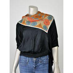 SALE! Rare Vintage Vera Scarf - Silk Scarf - Vera Neumann 60s Neck Scarf - Tribal Scarf - Polka Dot Scarf - Paisley Scarf - Abstract Scarf - Mod 1960s Silk Scarves (square)  #vintage #accessories #scarves #etsy #fashion #style #womens