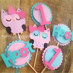 Buho Cupcake Toppers por PerfectlyPaperBanner en Etsy