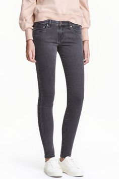 Super Skinny Low Jeans - Denim grigio scuro - DONNA | H&M IT 1