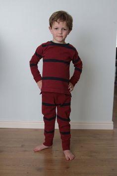 little man pajamas made from a men's shirt - itsalwaysautumn - it's always autumn