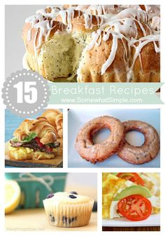 The lemon poppyseed bread sounds YUMMY! 15 breakfast recipes the whole family will love! Via Somewhat Simple What's For Breakfast, Christmas Breakfast, Breakfast Smoothies, Breakfast Dishes, Breakfast Recipes, Christmas Morning, Homemade Pancakes, Brunch Recipes, Easy Recipes