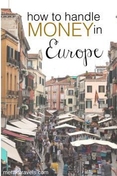 How to handle money in Europe