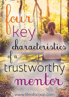 How do you find a safe mentor - someone trustworthy and grace-filled? I have some ideas that I'm sharing in a vlog post. Find out what four characteristics you should look for in a mentor relationship. Be intentional about vulnerability! After all, we were made for community.