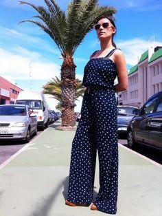 Xaila Outfit  retro casual jumpsuit  Primavera 2012. Combinar Pantalones Azul oscuro/Noche Springfield, Cómo vestirse y combinar según Xaila el 14-5-2012