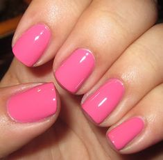 Just painted my nails this color! Best nail polish!! Wet n Wild Mega Last Nail Color in Candy-Licious.