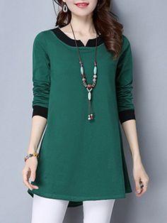 Casual V Neck Long Sleeves Shirt Casual V Neck Long Sleeves Frock Fashion, Fashion Outfits, Plus Size Dresses, Short Dresses, Modele Hijab, Iranian Women Fashion, Dress Clothes For Women, Korean Street Fashion, Clothing Websites