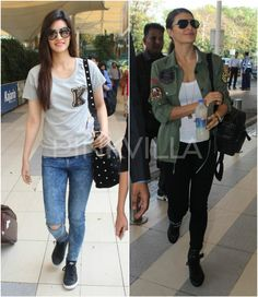 Who Rocked The Airport Style - Jacqueline or Kriti? | PINKVILLA
