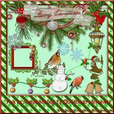 Welkom bij Creative Scrapmom: Fun in scrapbooking 14 Christmas elements