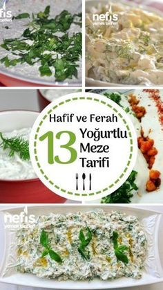 Yoğurtlu meze tarifleri, tamamı denenmiş detaylı anlatımlı 13 tarifle bu l… – Salata meze kanepe tarifleri – Las recetas más prácticas y fáciles Appetizer Salads, Appetizer Recipes, Appetizers, Yogurt Recipes, Salad Recipes, Meze Recipes, Yummy Recipes, Turkish Recipes, Ethnic Recipes