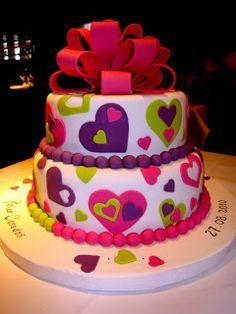 Torta corazon Nail Polish q gloss gel nail polish Girly Cakes, Fancy Cakes, Sweet Cakes, Cute Cakes, Fondant Cakes, Cupcake Cakes, Bolo Fack, Valentine Cake, Cake Decorating Tips