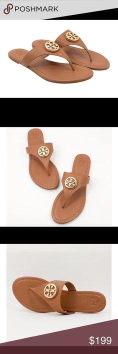 Nwt Tory Burch Judy Thong Sandal Nwt Tory Burch Judy Thong Sandal in Royal Tan Pebbled Leather. Ships Quickly! Tory Burch Shoes Sandals