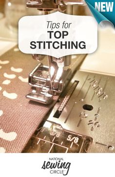 "Think of ""top-stitching"" as the stitches that are on the ""top"" or exterior of a sewing project - the stitches that people actually see! Here are some tips for perfecting your top-stitching >> www.nationalsewingcircle.com/how-do-i-top-stitch-let-me-count-the-ways #learnmoresewmore"
