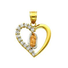 14K 3 Tri-color Gold Religious Mary Guadlupe CZ Cubic Zirconia Charm Pendant Goldenmine. $104.00. Manufactured using up-to-date manufacturing techniques ensuring the highest quality and value. This item features a high polish finish for Excellent sparkle and pop. Promptly Packaged with Free Shipping and Free Gift Box... Perfect for Gift Giving. This jewelry is symbolic in nature and can be the perfect gift for any and all occasions. Completely redesigned and revamped for...