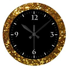Cute gold background design wall clocks
