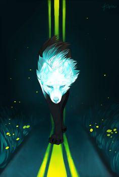 False Knight on the Road by omniscientbongos on DeviantArt Mythical Creatures Art, Fantasy Creatures, Fantasy Wolf, Fantasy Art, Really Cool Drawings, Werewolf Art, Wolf Spirit Animal, Wow Art, Anime Wolf