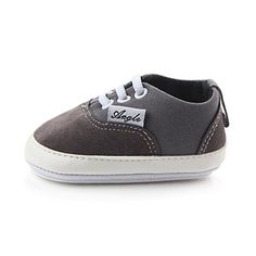 Baby Shoes |  Huluwa Baby Shoes Nonslip First Walking Shoes Rubber Sole Canvas Shoes for Baby Boys Girls Safe and Comfort Gray >>> Check out this great product.-It is an affiliate link to Amazon.