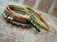 Bohemian Bracelet / Sari Silk Bracelets / Gypsy by Syrena56, $32.00