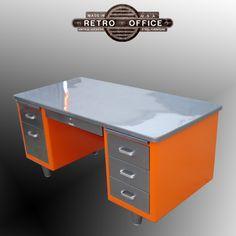 McDowell & Craig Vintage Steel Tanker Desk - Fully Restored. $950.00, via Etsy.